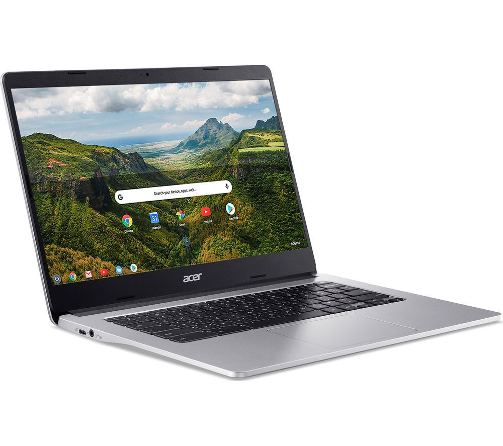 """Image of ACER 314 14"""" Chromebook - MTK MT8183C, 64 GB eMMC, Silver, Silver"""