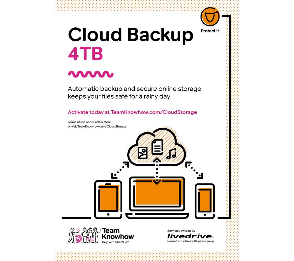 KNOWHOW Cloud Backup - 4 TB, 5 years