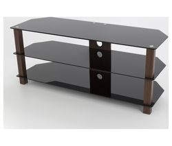 AVF 1250 TV Stand -  Walnut & Black