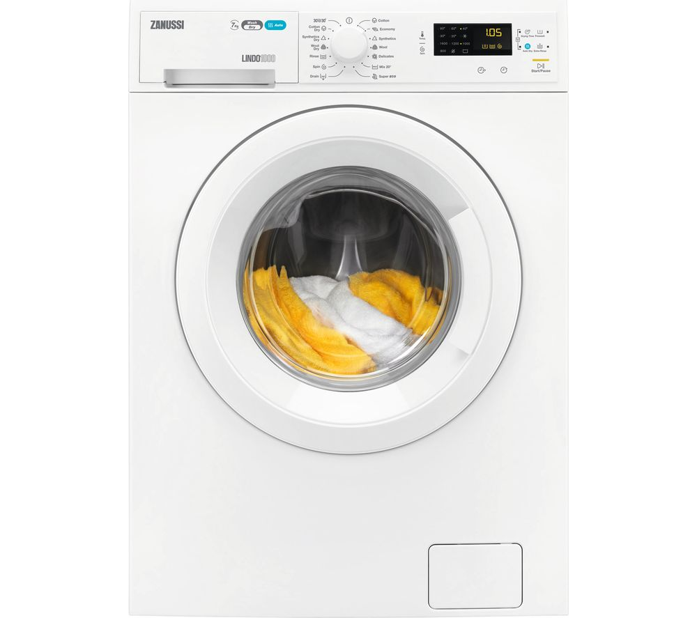 ZANUSSI ZWD71663NW Washer Dryer - White, White Review thumbnail