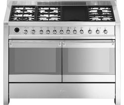 SMEG Opera 120 cm Dual Fuel Range Cooker - Stainless Steel