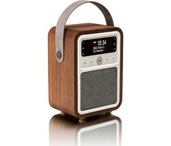 VQ Monty Portable DAB+/FM Bluetooth Clock Retro Radio - Walnut