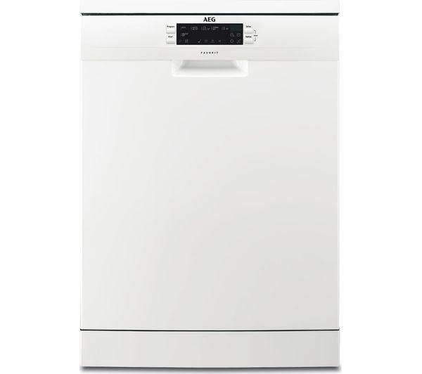 Image of AEG AirDry Technology FFE62620PW Full-size Dishwasher - White