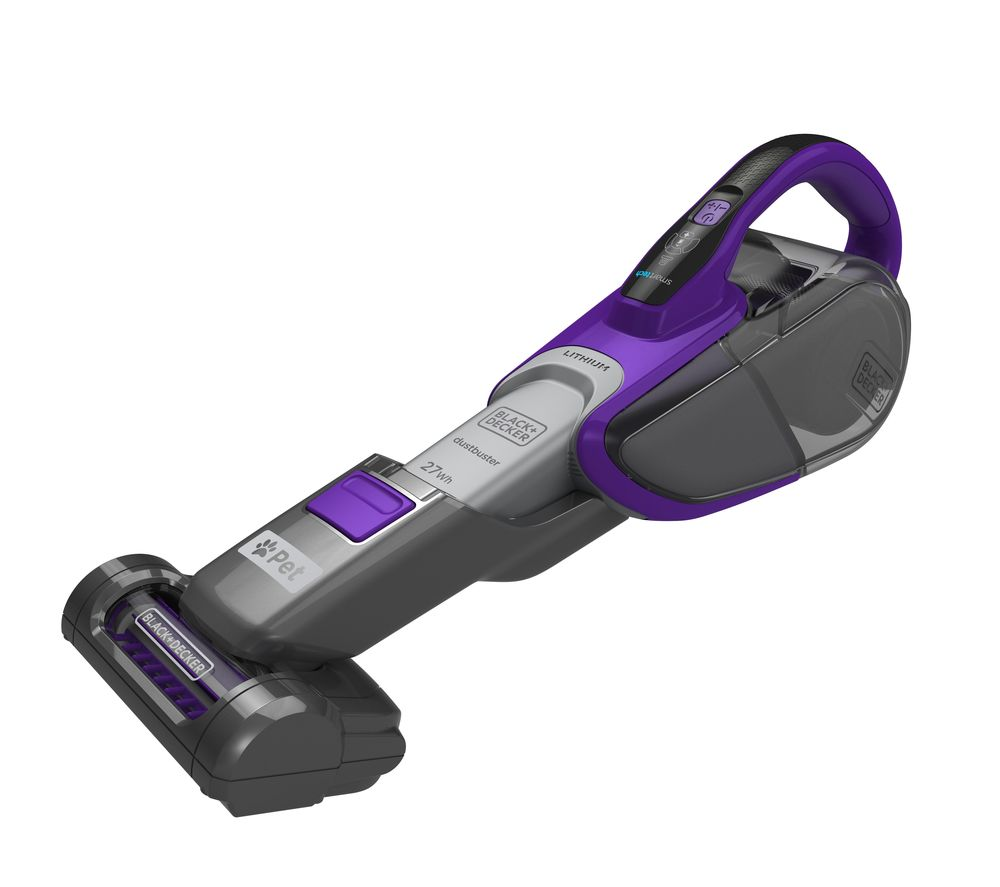 BLACK DECKER DVJ325BFSP-GB Handheld Vacuum Cleaner - Grey & Purple