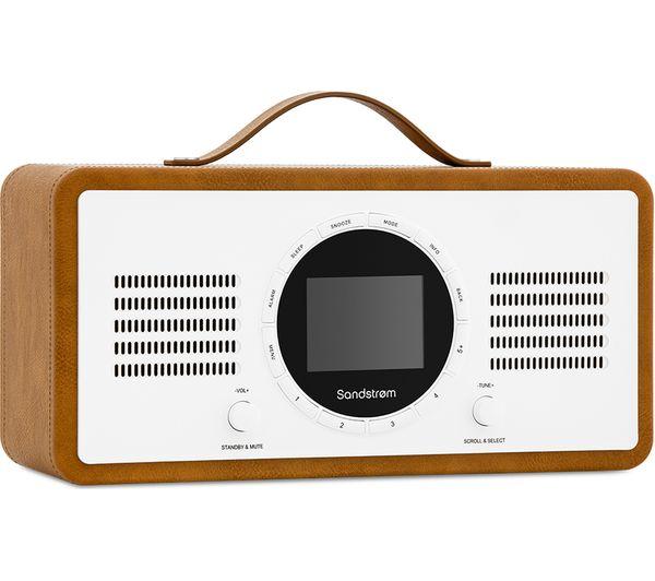 SANDSTROM SL-IBTB18 Portable DAB+/FM Smart Bluetooth Radio - Brown