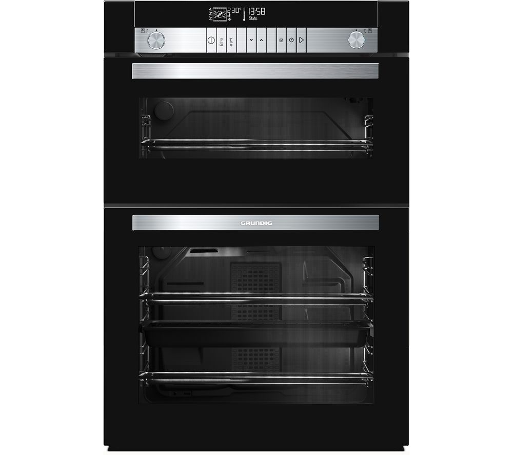 GRUNDIG GEDM47000B Electric Built-under Double Oven - Black