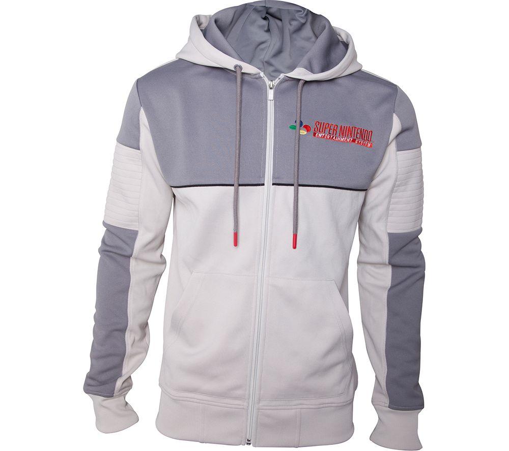 NINTENDO SNES Inspired Hoodie - Medium, Grey