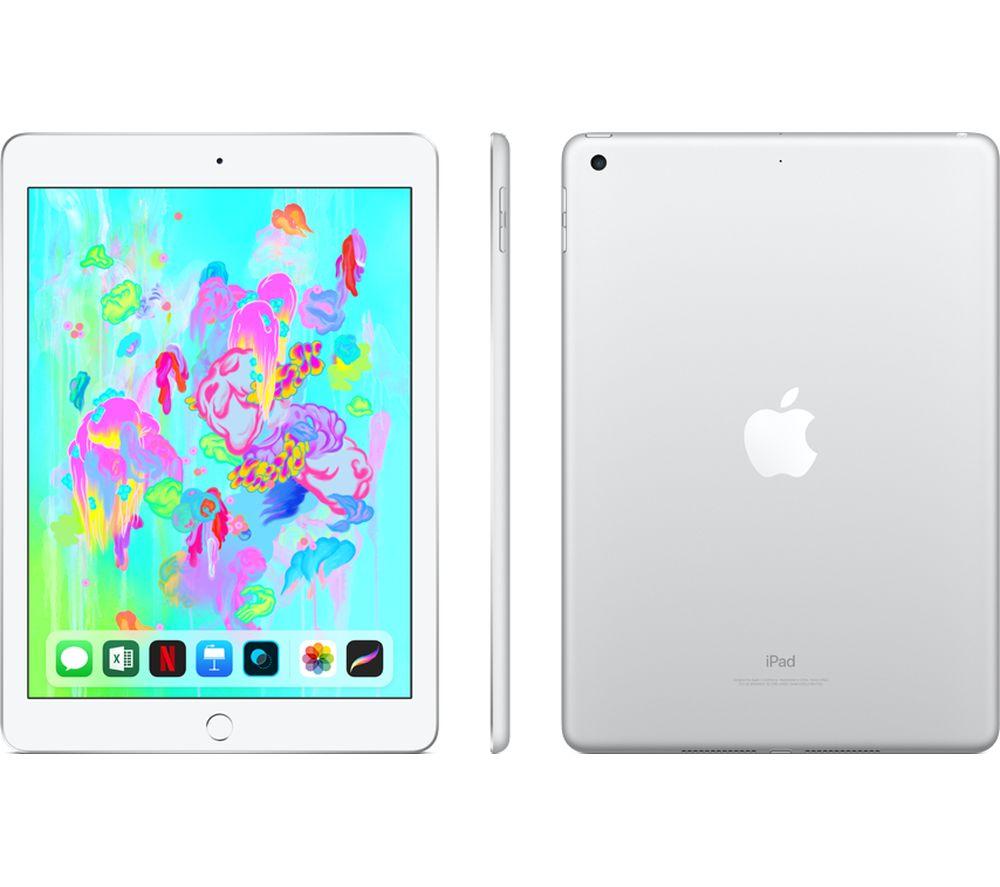 "APPLE 9.7"" iPad (2018) - 128 GB, Silver"