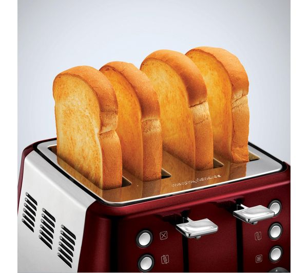 Morphy Richards Red Kitchen Accessories: Buy MORPHY RICHARDS Evoke One 4-Slice Toaster - Red