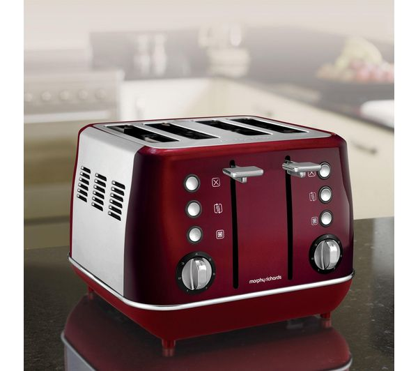 Morphy Richards Toaster: Buy MORPHY RICHARDS Evoke One 4-Slice Toaster - Red