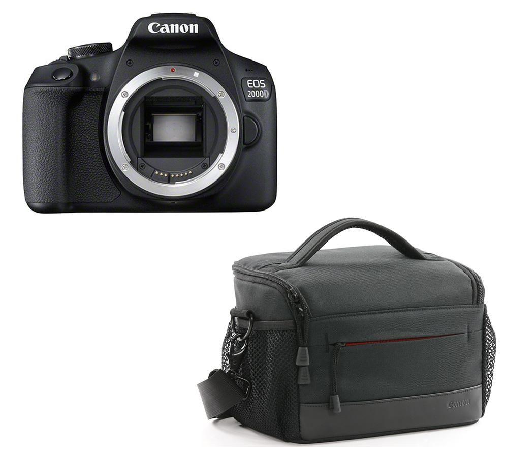CANON EOS 2000D DSLR Camera & ES100 DSLR Camera Bag Bundle