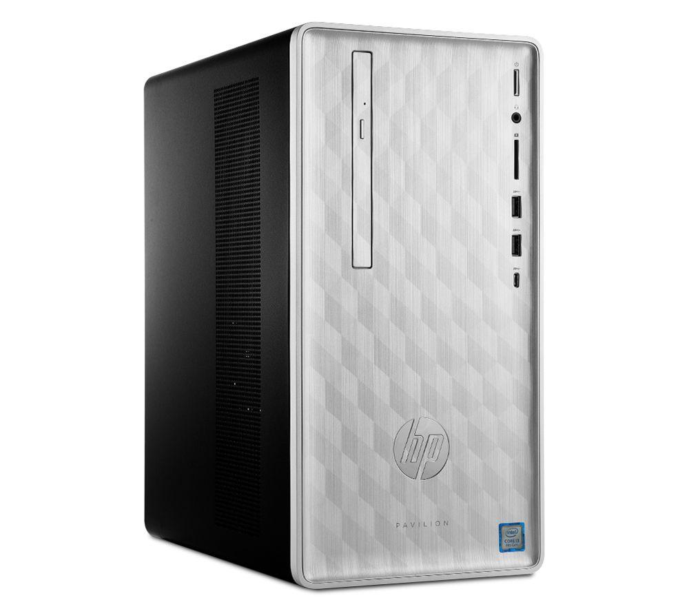 HP Pavilion 590-p0032na Intel® Core™ i3 Desktop PC - 1 TB HDD, Silver