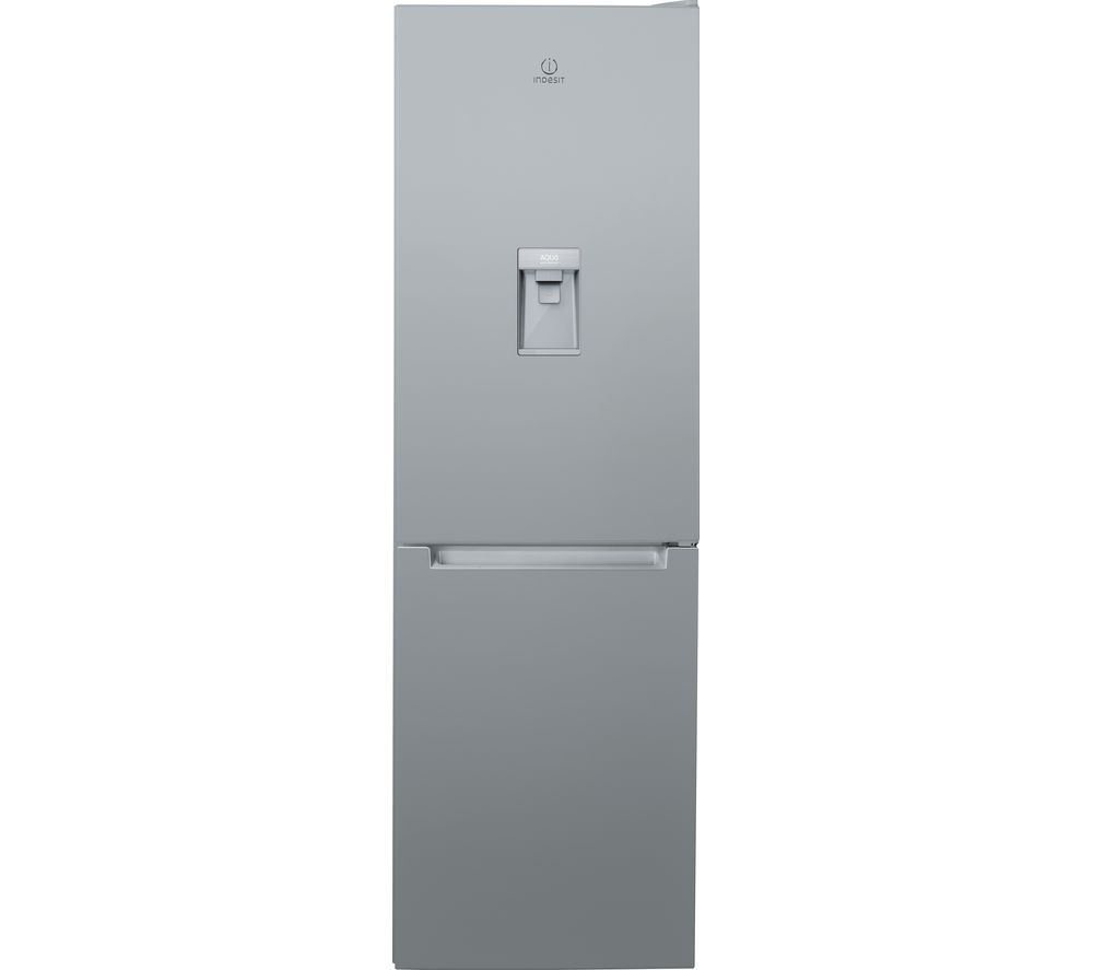 INDESIT LR8 S1 S AQ UK.1 60/40 Fridge Freezer - Silver, Silver