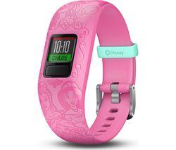 GARMIN vivofit jr 2 Kid's Activity Tracker - Pink Disney Princess, Adjustable Band