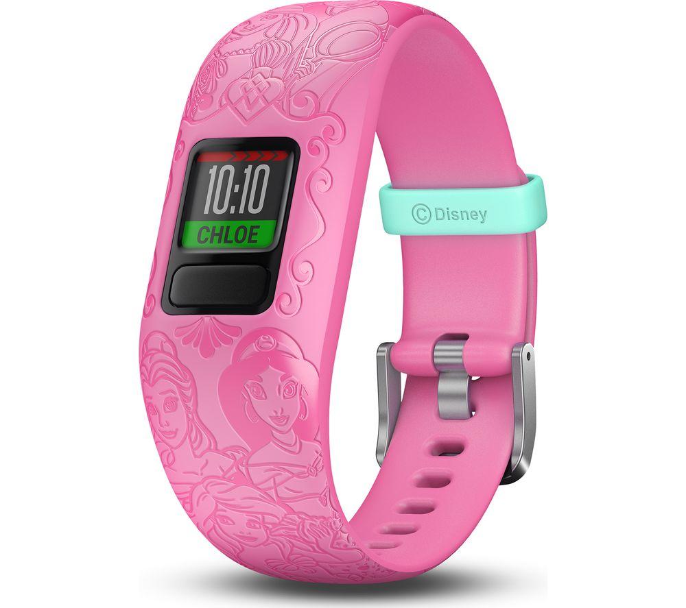 GARMIN vivofit jr. 2 Kid's Activity Tracker - Pink Disney Princess, Adjustable Band