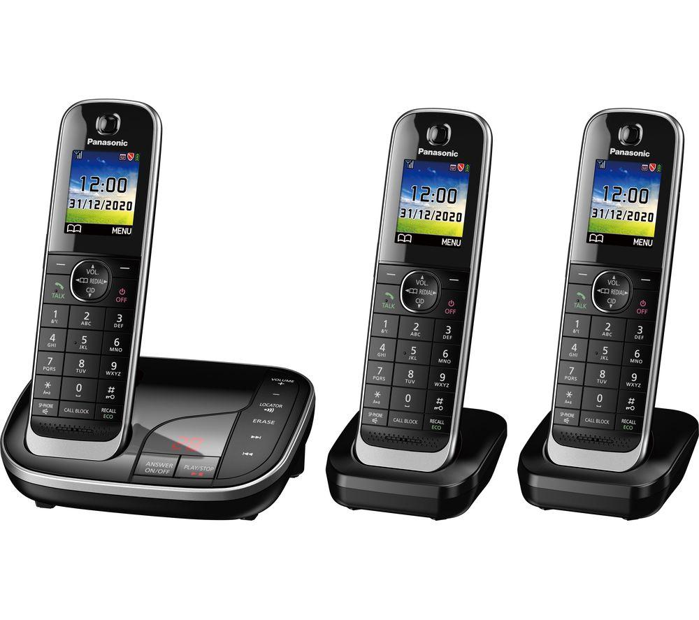 Panasonic Kx Tgj423eb Cordless Phone Triple Handsets