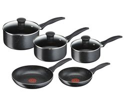 TEFAL Origins B190S544 5-piece Non-stick Cookware Set - Black