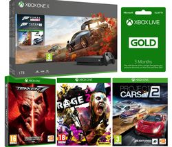 MICROSOFT Xbox One X, Forza Horizon 4, Forza Motorsport 7, Rage 2, Project Cars, Tekken 7 & 3 Months LIVE Gold Bundle