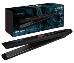 REVAMP Progloss Touch Digital ST-1500-GB Hair Straightener - Black