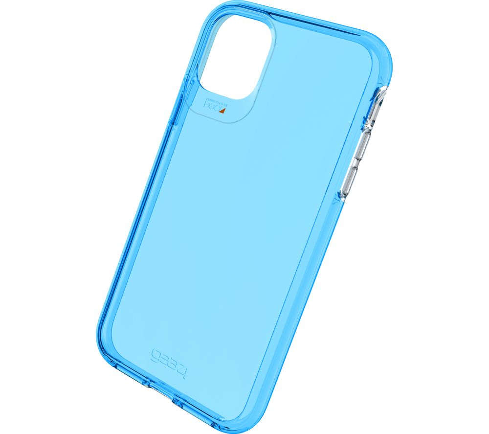 Image of Crystal Palace Neon iPhone 11 Clear View Case - Blue, Neon