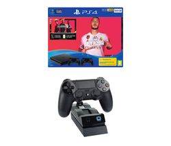 SONY Playstation 4 with FIFA 20, Two Wireless Controllers & Twin Docking Station Bundle - 500 GB