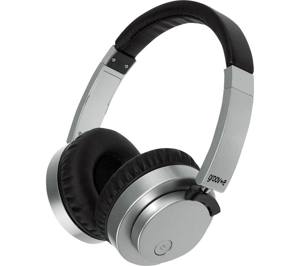 GROOV-E Fusion GV-BT400-SR Wireless Bluetooth Headphones - Silver