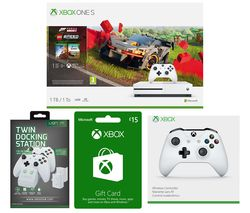 MICROSOFT Xbox One S, Forza Horizon, LEGO Speed Champions, Xbox Live £15 Gift Card, Docking Station & Wireless Controller Bundle