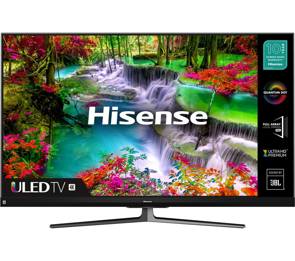 55  HISENSE 55U8QFTUK  Smart 4K Ultra HD HDR QLED TV with Amazon Alexa