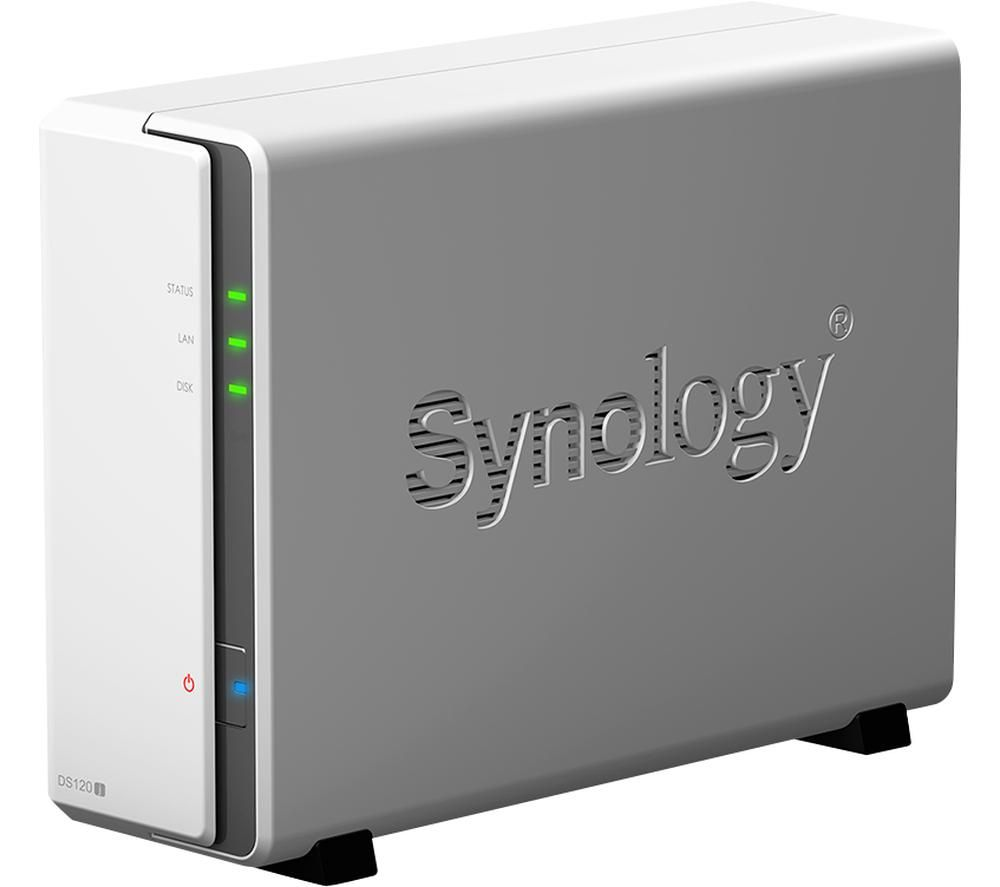 SYNOLOGY DS120J Disk Station Server NAS Drive - 4 TB, 1 Bay, White