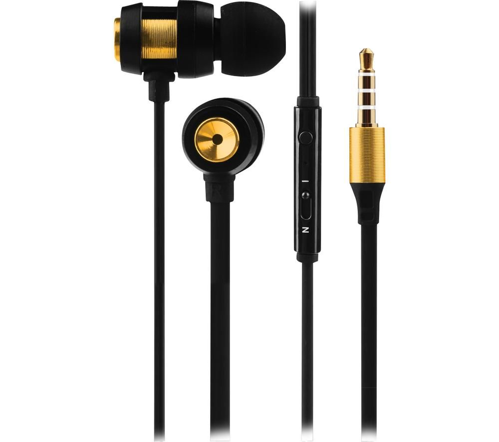 VOLKANO Alloy VK-1007-GD Earphones - Gold & Black