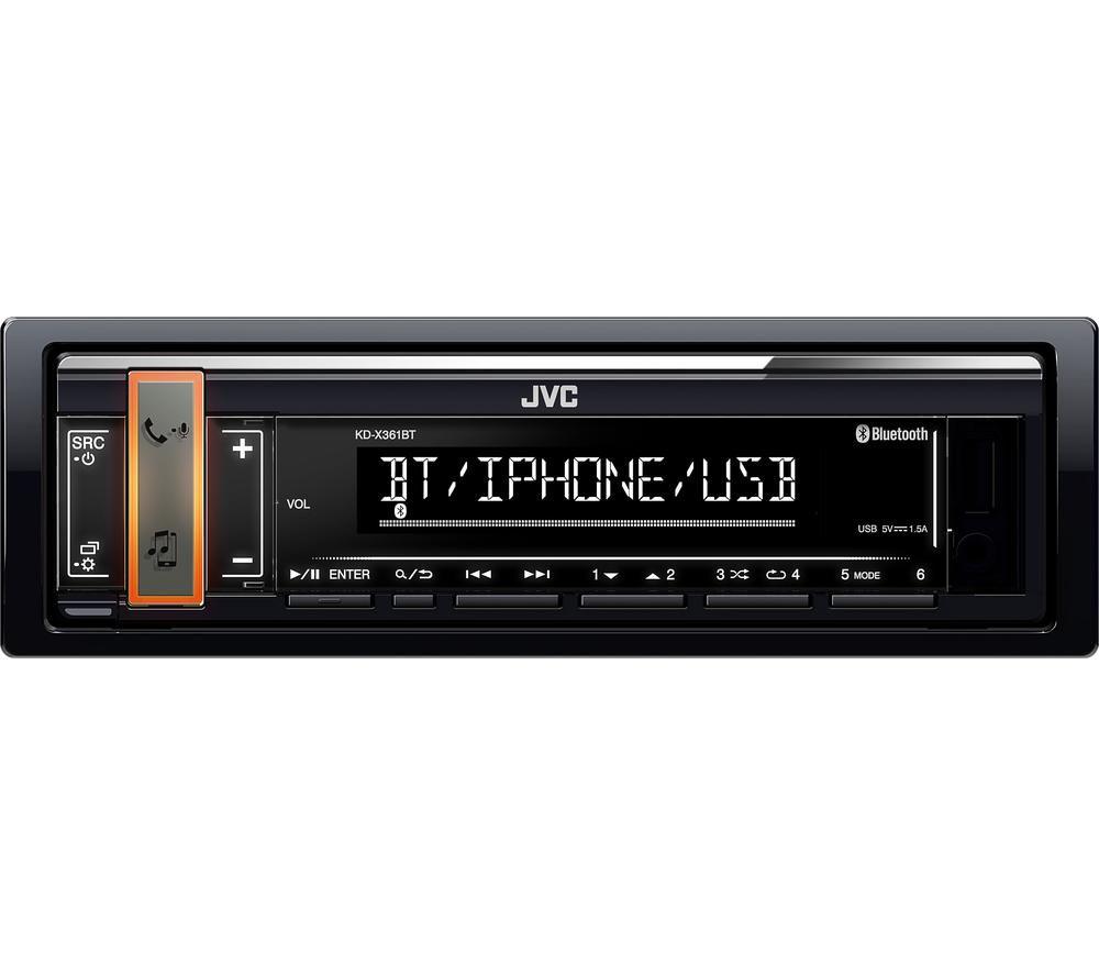 JVC KD-X361BT Smart Bluetooth Car Radio - Black