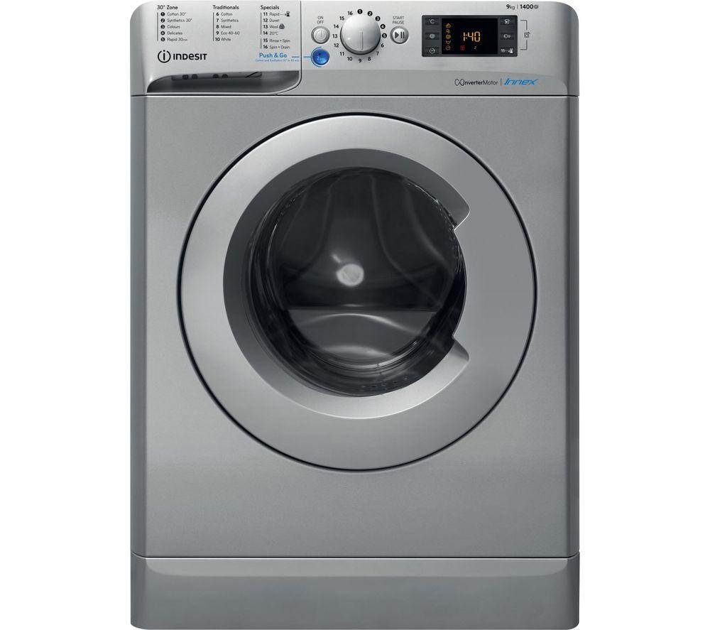 INDESIT Innex BWE 91483X S UK N 9 kg 1400 Spin Washing Machine - Silver, Silver