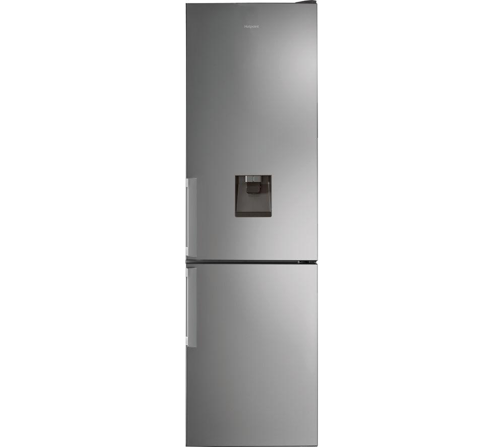 HOTPOINT Day1 H7T 911A MX H AQUA 1 70/30 Fridge Freezer - Stainless Steel, Aqua