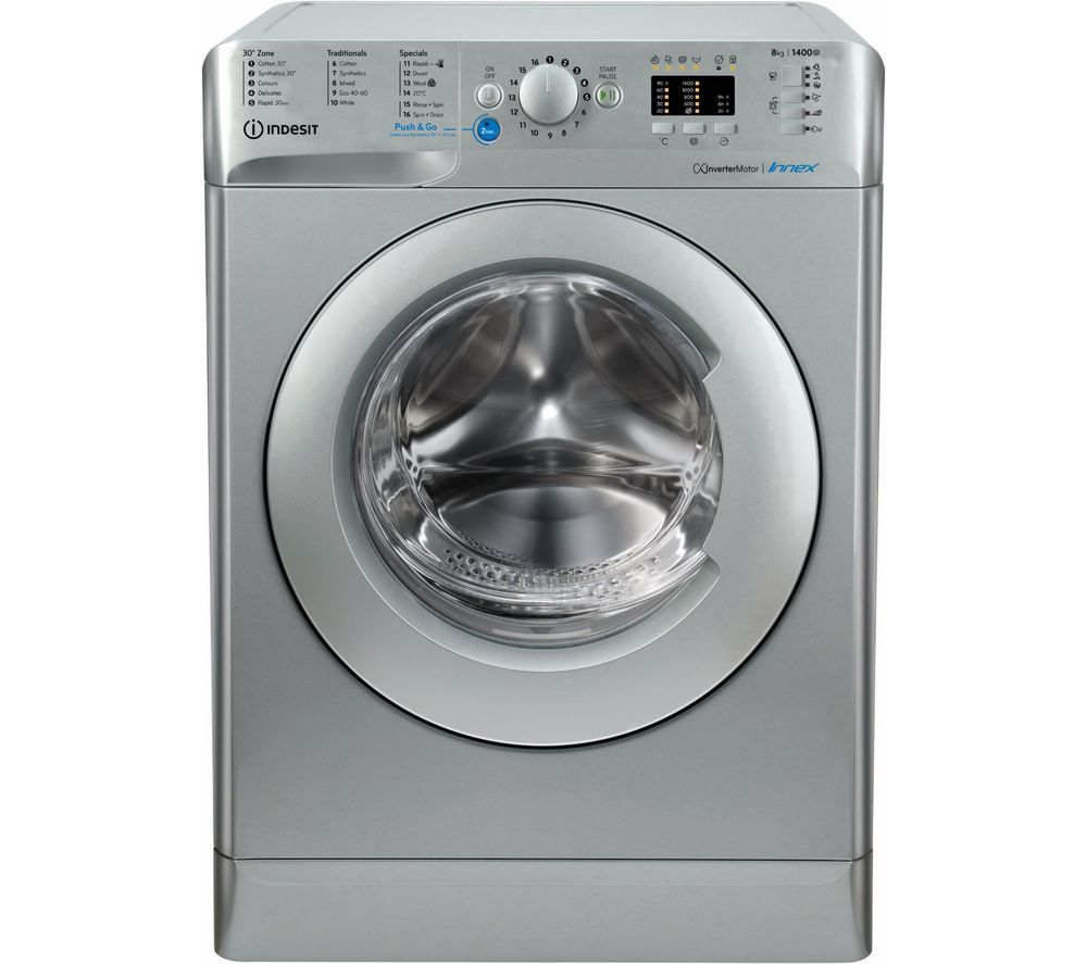 INDESIT Innex BWA 81483X S UK N 8 kg 1400 Spin Washing Machine - Silver