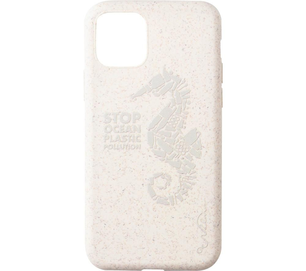 WILMA Stop Ocean Plastic Pollution Seahorse iPhone 11 Pro Case - Cream
