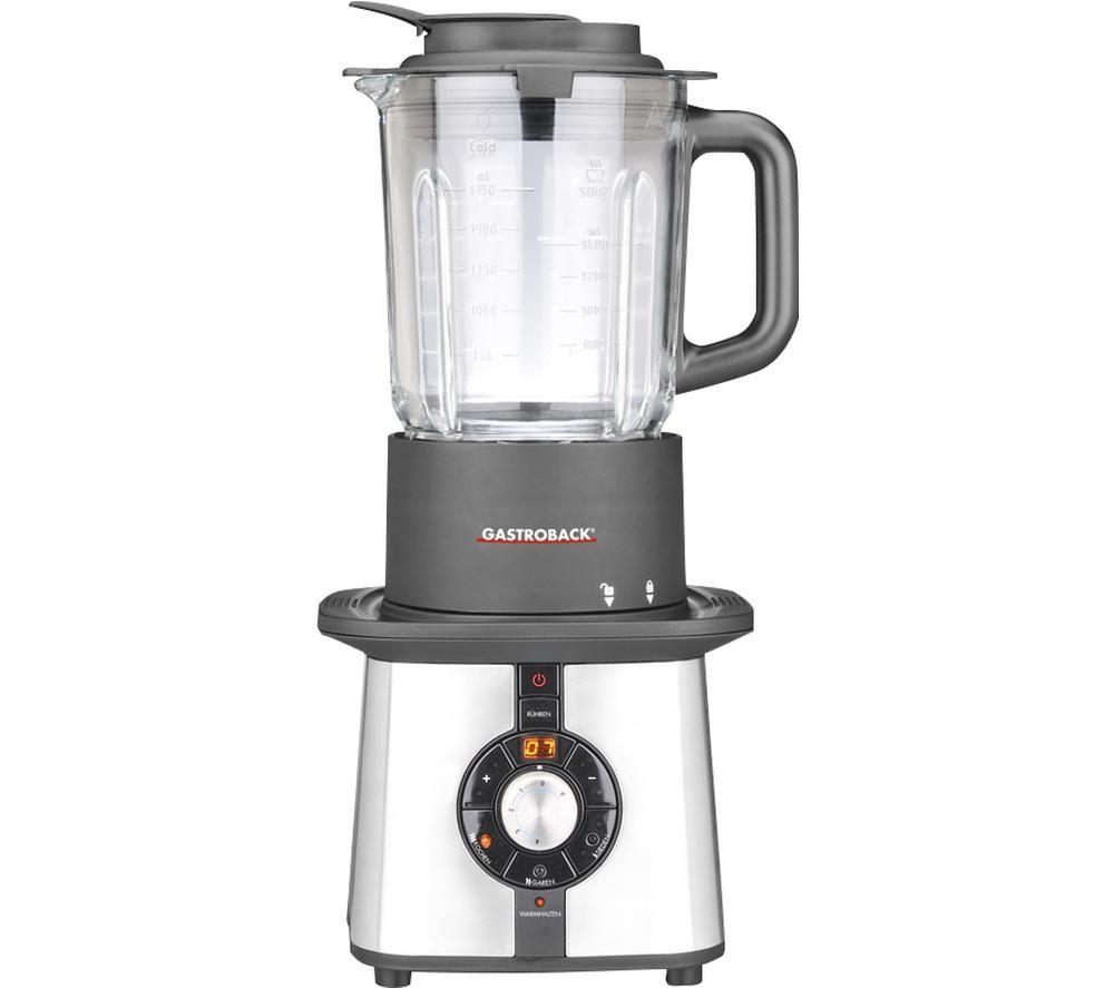 GASTROBACK Cook & Mix Plus Blender - Silver & Black, Silver