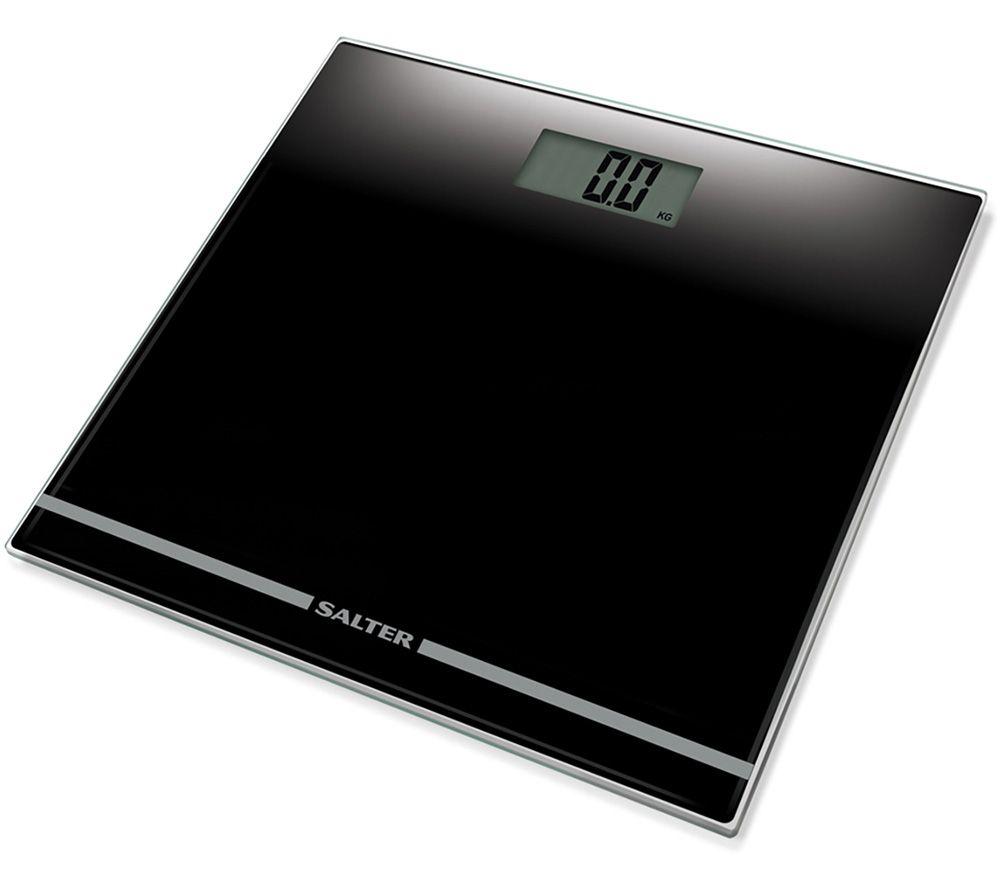 SALTER 9205 BK3R Bathroom Scales - Black, Black