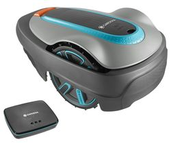 Smart Sileno City 250 Cordless Robot Lawn Mower - Blue and Grey