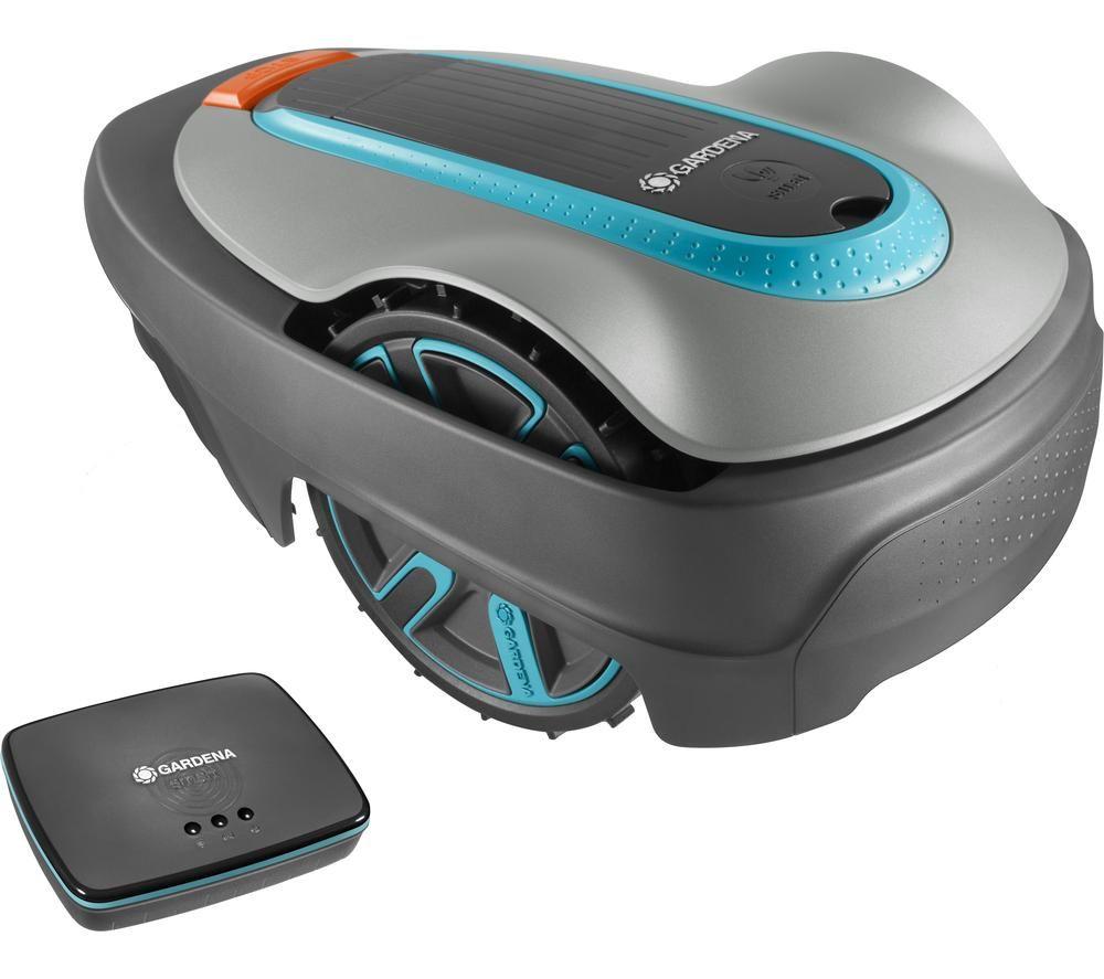GARDENA Smart Sileno City 250 Cordless Robot Lawn Mower - Blue and Grey, Blue
