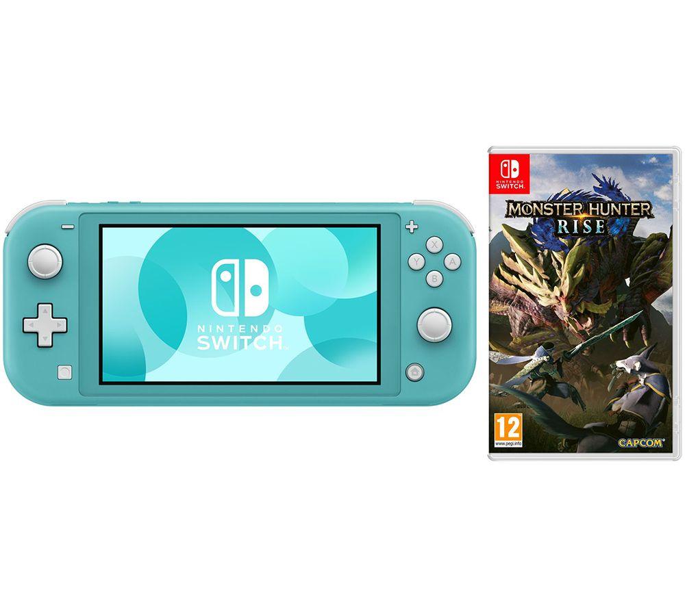 NINTENDO Switch Lite & Monster Hunter Rise Bundle - Turquoise