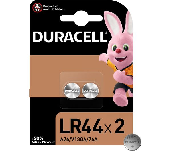 Image of DURACELL A76/KA76/V13GA Electronics Alkaline LR44 Coincell Batteries - Pack of 2