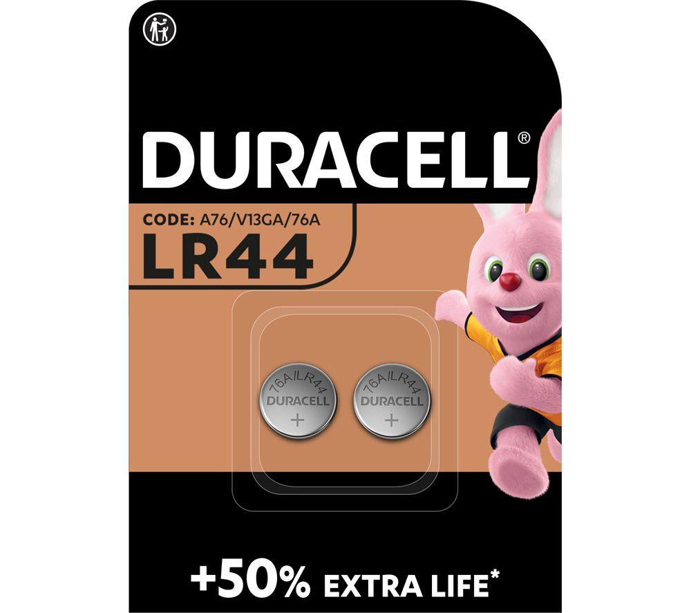 DURACELL A76/KA76/V13GA Electronics Alkaline LR44 Coincell Batteries - Pack of 2