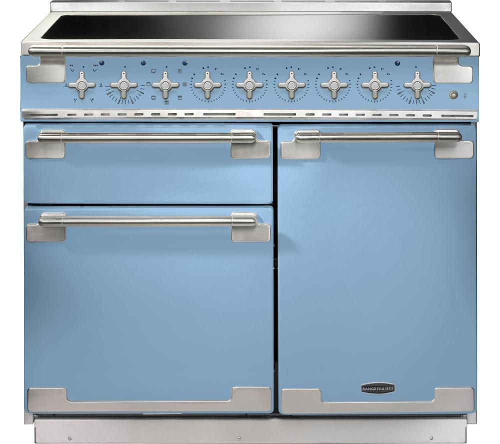 Image of RANGEMASTER Elise 100 Electric Induction Range Cooker - China Blue & Chrome, Blue