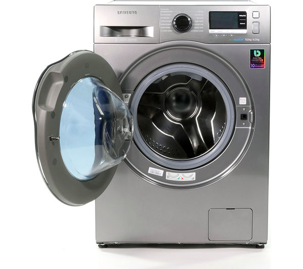buy samsung ecobubble wd90j6410ax eu washer dryer graphite free delivery currys. Black Bedroom Furniture Sets. Home Design Ideas
