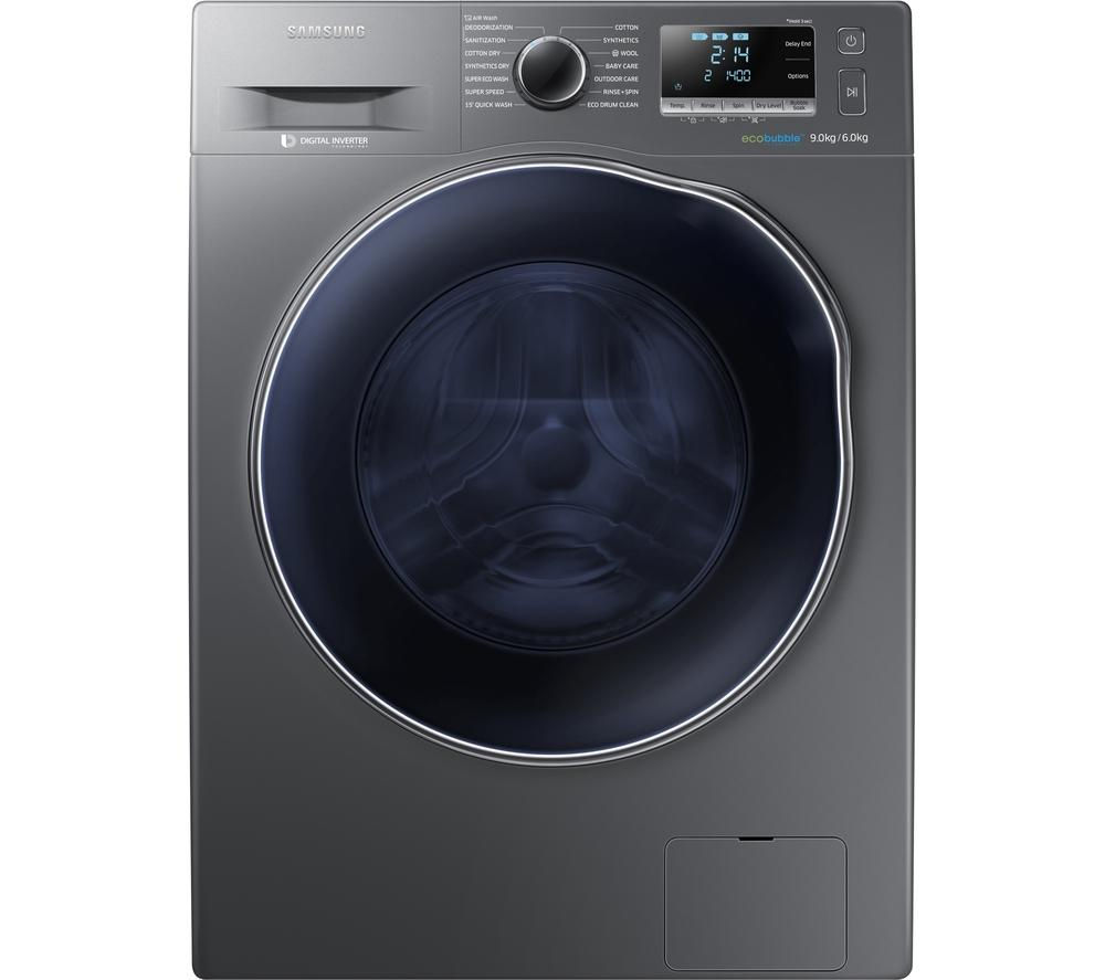 Cheap Washer Dryer Uk Part - 21: SAMSUNG Ecobubble WD90J6410AX/EU Washer Dryer - Graphite