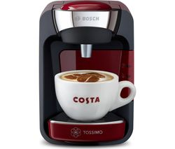 TASSIMO by Bosch SUNY Coffee Machine - Red