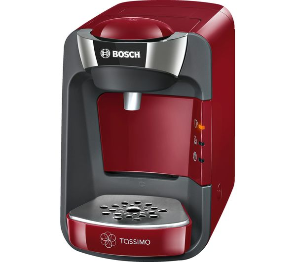 buy tassimo by bosch suny coffee machine red costa cappuccino t discs pack of 8 free. Black Bedroom Furniture Sets. Home Design Ideas