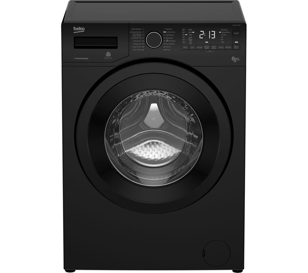 black washer dryer machine