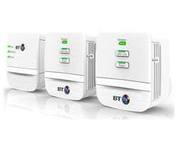 BT Mini Home Hotspot 600 WiFi Powerline Adapter Kit - Triple Pack