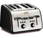 TEFAL Maison TT7708UK 4-Slice Toaster - Stainless Steel & Chalkboard Black
